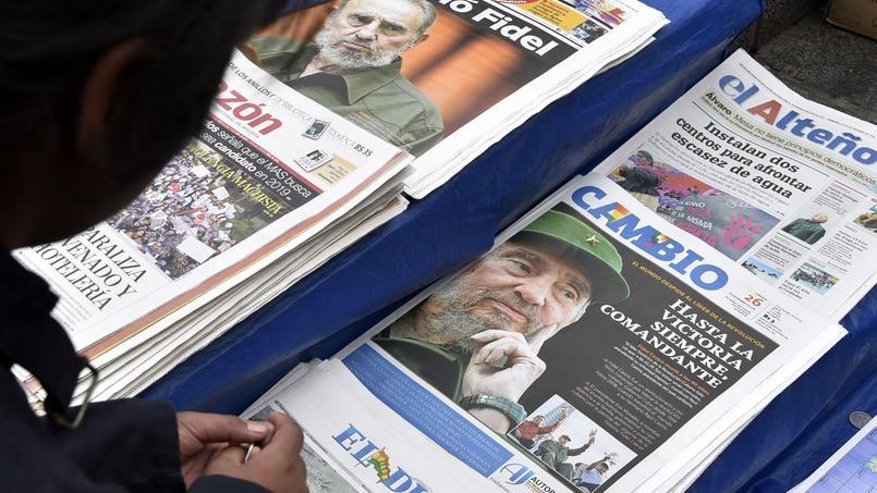«Fidel est mort» et «Hasta la victoria siempre, Comandante» s'affichent en une des journaux boliviens au lendemain de la mort de Fidel Castro.