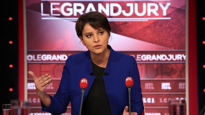 Najat Vallaud-Belkacem sur le plateau du «Grand Jury RTL-Le Figaro-LCI», le 27 novembre.
