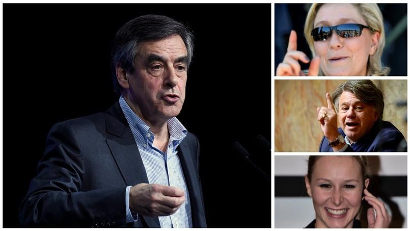 François Fillon, Marine Le Pen, Gilbert Collard et Marion Maréchal Le Pen