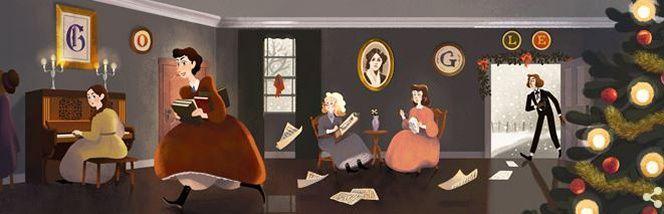 Le moteur de recherche rend hommage à la romancière Louisa May Alcott ce vendredi 29 novembre.