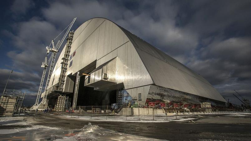 La fin de la construction du nouveau dôme à Tchernobyl, le 14 novembre 2016.