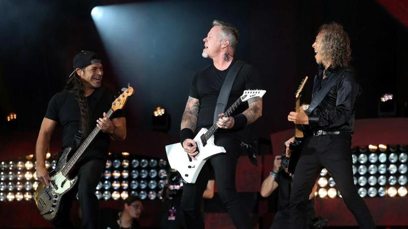 Le groupe Metallica lors d'un concert au Global Citizen Festival à Manhattan, le 24 septembre 2016.