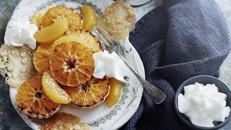 Les clémentines rôties au miel, dont la recette se retrouve dans le livre de Delphine Plisson.
