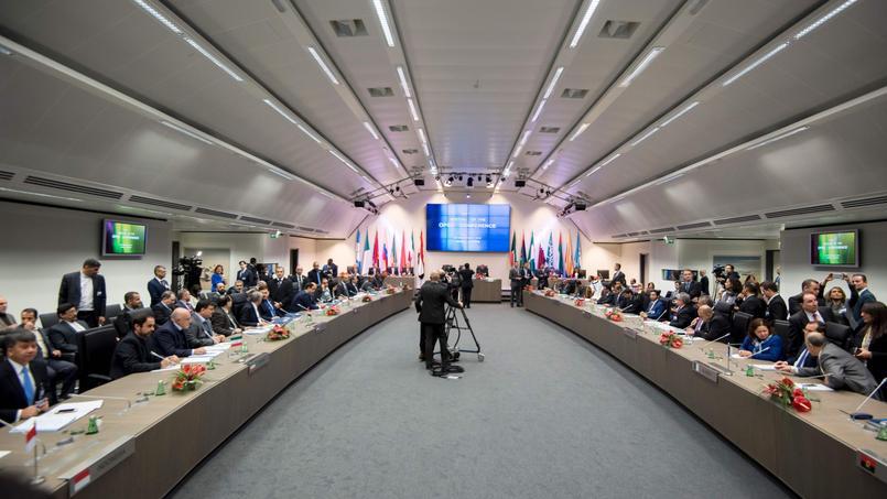 La réunion des ministres des quatorze États membres de l'Opep, mercredi au siège, à Vienne en Autriche.