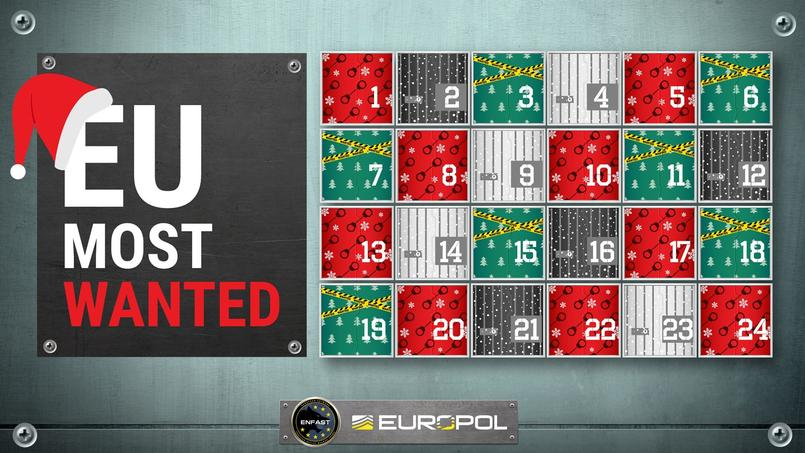 Calendrier de l'Avent «EU most wanted»