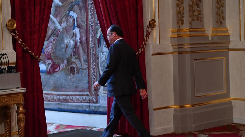 François Hollande depuis l'Elysée jeudi soir.