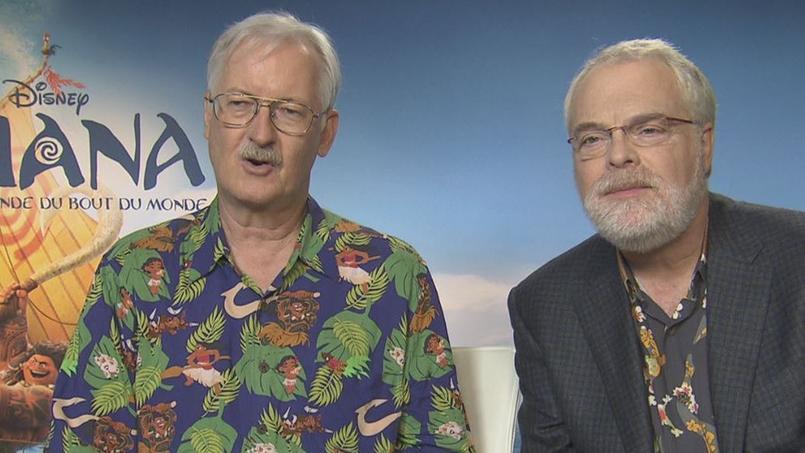 John Musker et Ron Clements, réalisateurs de Vaiana, La légende du bout du monde.