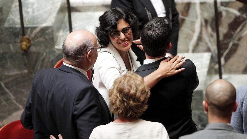 Myriam El Khomri, le 20 juillet à l'Assemblée nationale, lors de l'adoption de la loi Travail après le recours au 49-3 par Manuel Valls (Jean-Christophe MARMARA / Le Figaro)