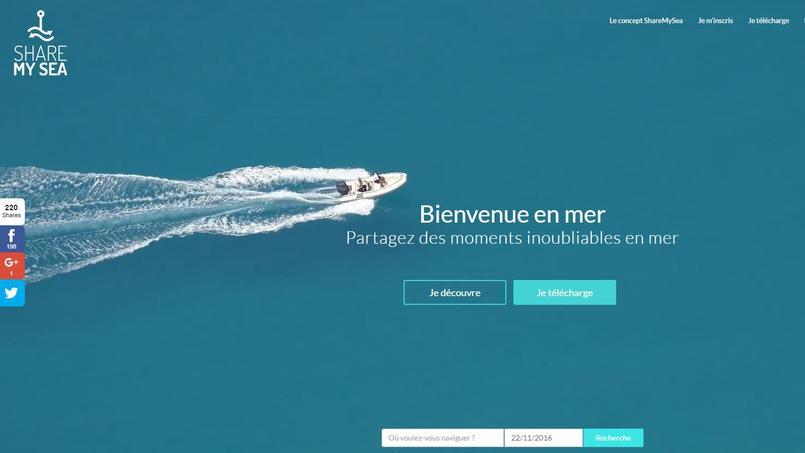L'application ShareMySea est née le 4 août 2016.