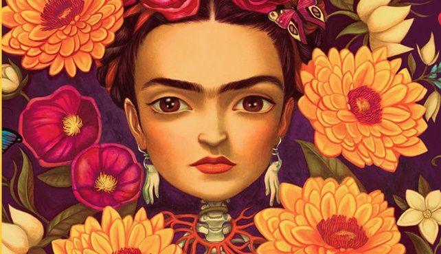 La couverture en fleurs de Frida, l'album de Benjamin Lacombe et Sébastien Perez publié par Albin Michel.