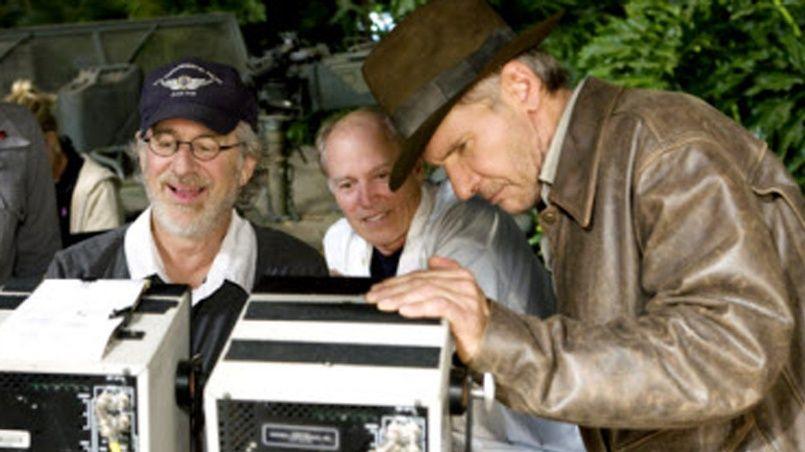 Le producteur Frank Marshall (au centre), l'inséparable complice de Steven Spielberg (à gauche), vit en 2016, l'année la plus prolifique de son immense carrière.