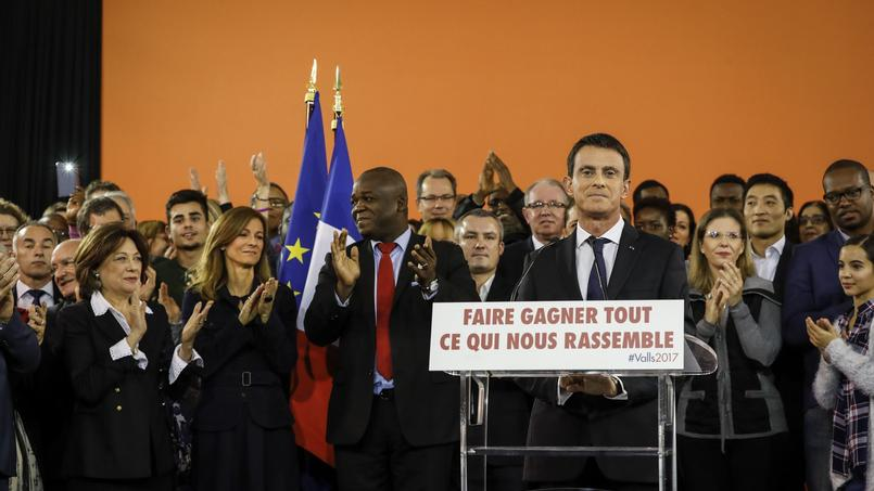 Manuel Valls, candidat à la primaire de gauche, à Évry.