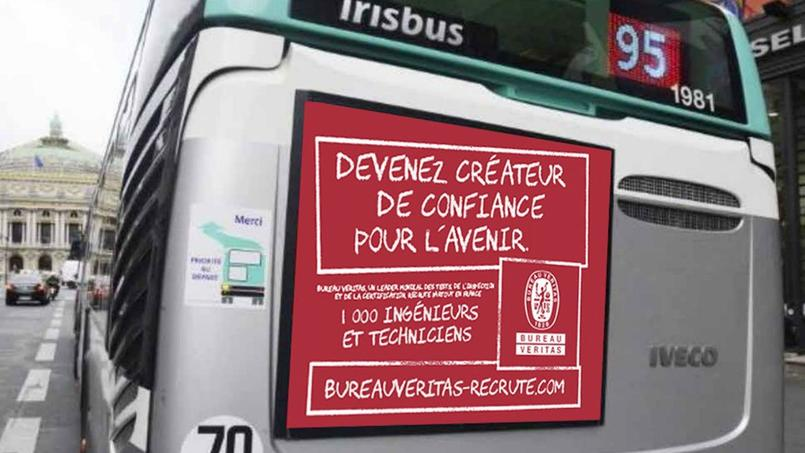 bureau veritas s 39 affiche sur les bus pour recruter 1 000 personnes en 2017. Black Bedroom Furniture Sets. Home Design Ideas
