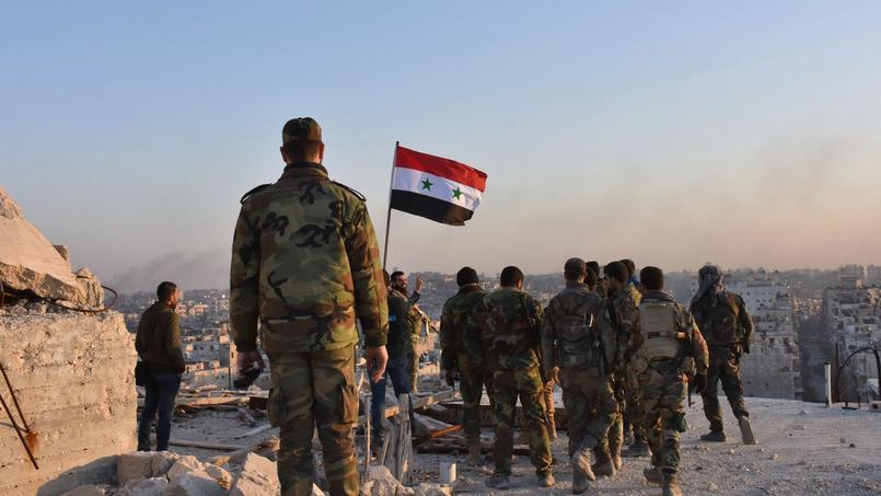 Des soldats syriens à Alep.