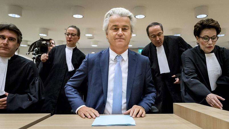 Geert Wilders, à son procès.