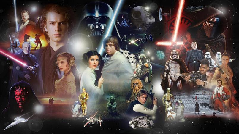 La saga Star Wars a été créée en 1977 par George Lucas. La franchise compte désormais sept épisodes et un spin-off attendu en salle le 14 décembre.