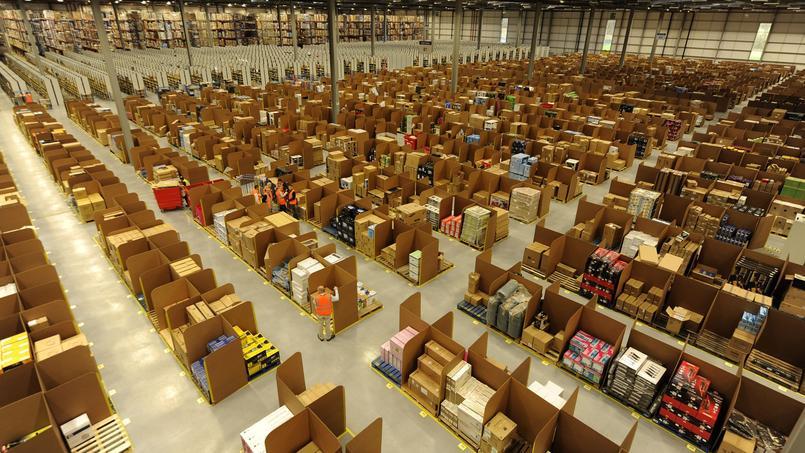 L'entrepôt Amazon de Dunfermline, en Écosse.