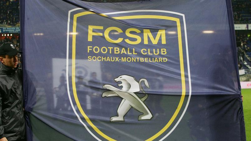 un drapeau du FC Sochaux, club qui évolue aujourd'hui en Ligue 2.
