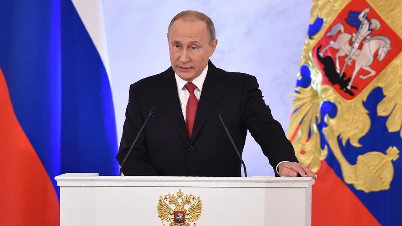 Vladimir Poutine au Kremlin à Moscou (Russie), le 14 décembre 2016.