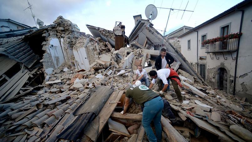 Tremblement de terre en Italie