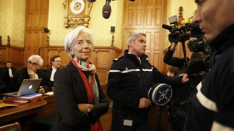 Christine Lagarde lors de son arrivée au procès, le 12 décembre.