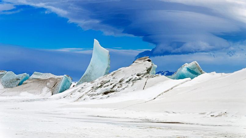 Le mont Discovery, un volcan situé en Antarctique.