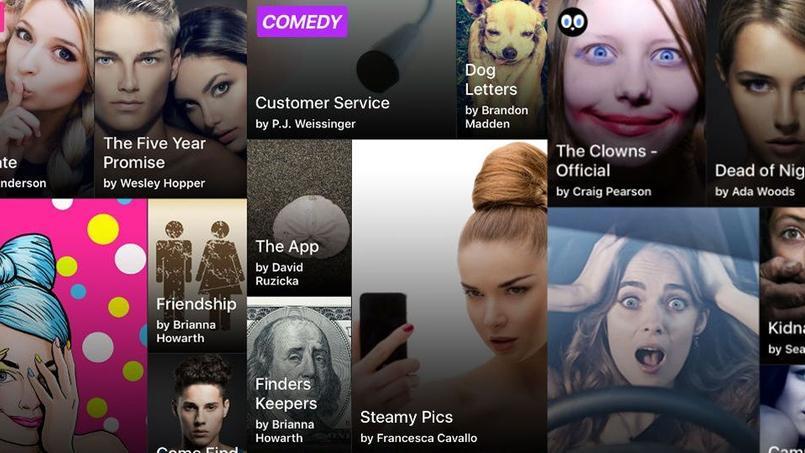 L'application Hooked propose des chat-fictions pour les amateurs d'histoires d'amour, de comédies ou de thrillers.
