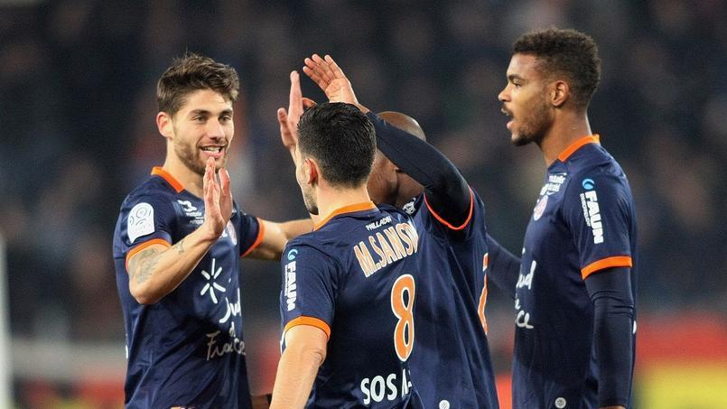 Les Montpelliérains durant la rencontre face à Bordeaux le 17 décembre 2016.