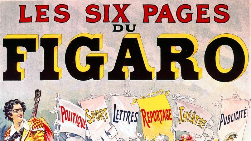 Affiche publicitaire pour Le Figaro par Harry Finney vers 1900.