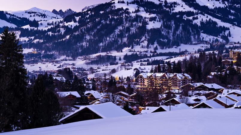 L'hôtel Park Gstaad sous la neige.