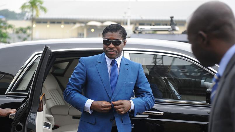 Teodorin Obiang, le 2 janvier 2013 en Guinée équatoriale.