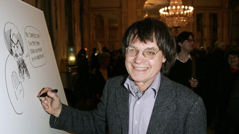 Cabu, ici au ministère de la culture en mars 2006