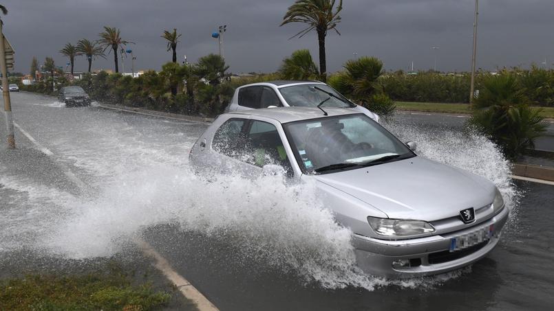 Les précipitations avaient engendré l'inondation de nombreuses routes à Palavas-les-Flots, en octobre dernier.