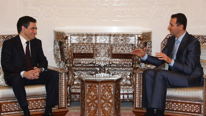François Fillon et Bachar el-Assad