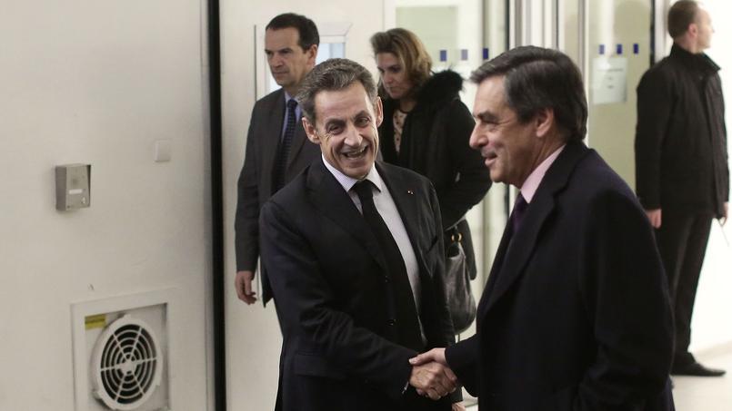 Nicolas Sarkozy et François Fillon à Paris, en décembre 2014.