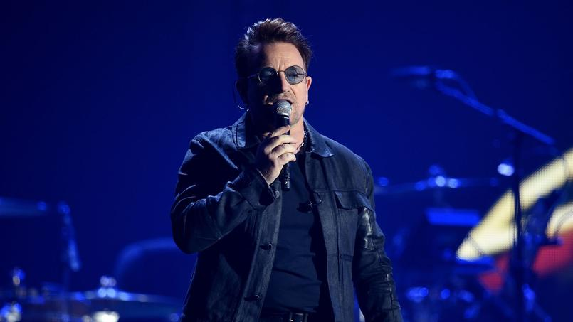 Bono le leader du groupe U2 en concert à Las Vegas le 23 septembre dernier