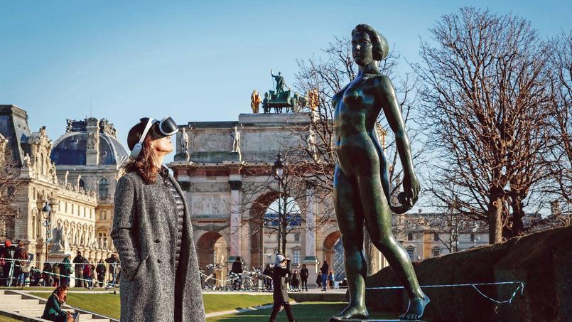 Dans les jardins des Tuileries, à Paris (Ier).
