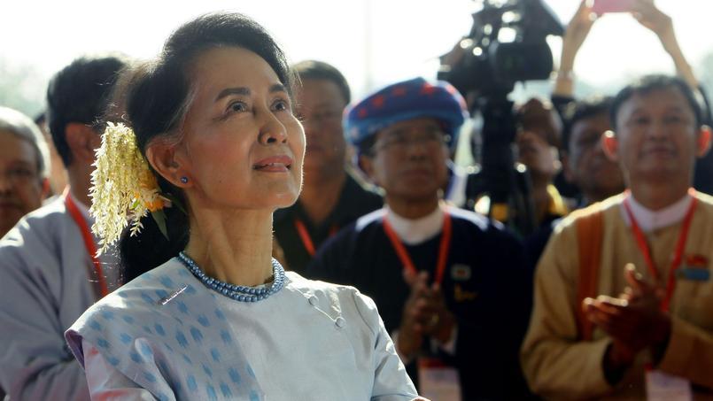 Aung San Suu Kyi durant une cérémonie de Réconciliation et de Paix, à Naypyitaw, le 1er janvier 2017.