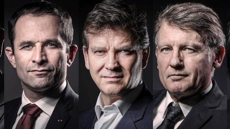 Benoît Hamon, Arnaud Montebourg et Vincent Peillon.