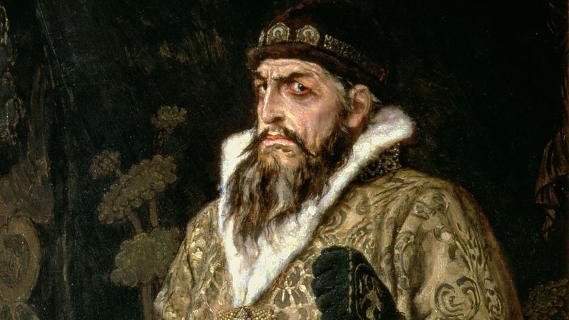 Portrait du tsar Ivan IV, surnomé le Terrible, peint par l'artiste russe Viktor Mikhaïlovich Vasnetsov en 1897.