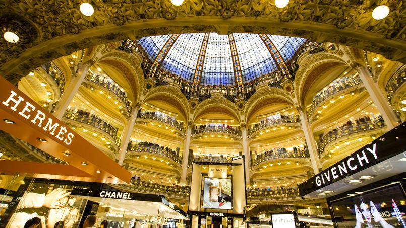 Les Galeries Lafayette à Paris. Crédit: Rrrainbow