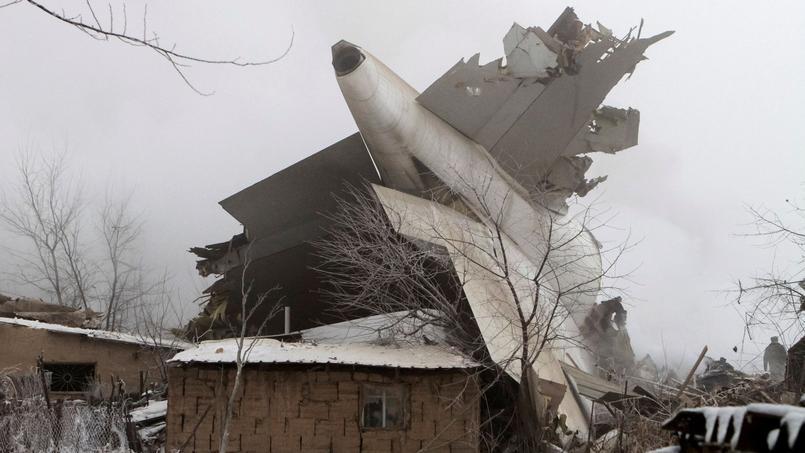 Crash d'un avion-cargo Boeing 747 près de Bichkek