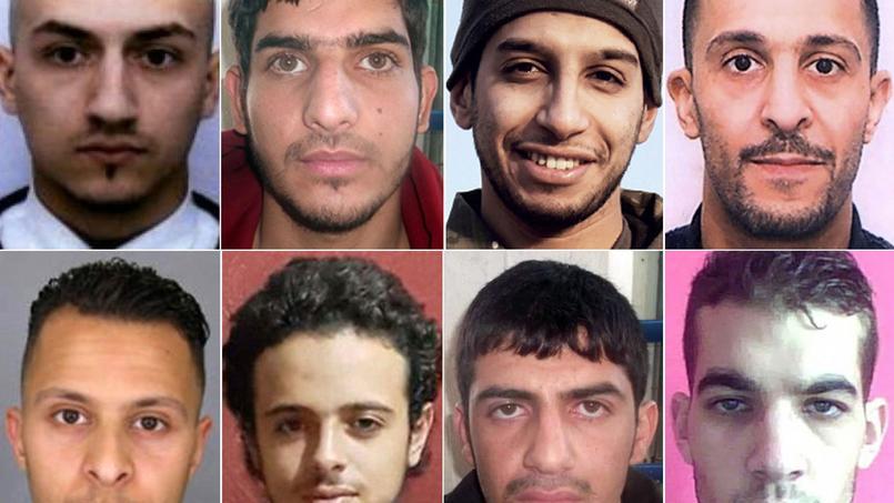 Les terroristes impliqués dans les attentats du 13 novembre.
