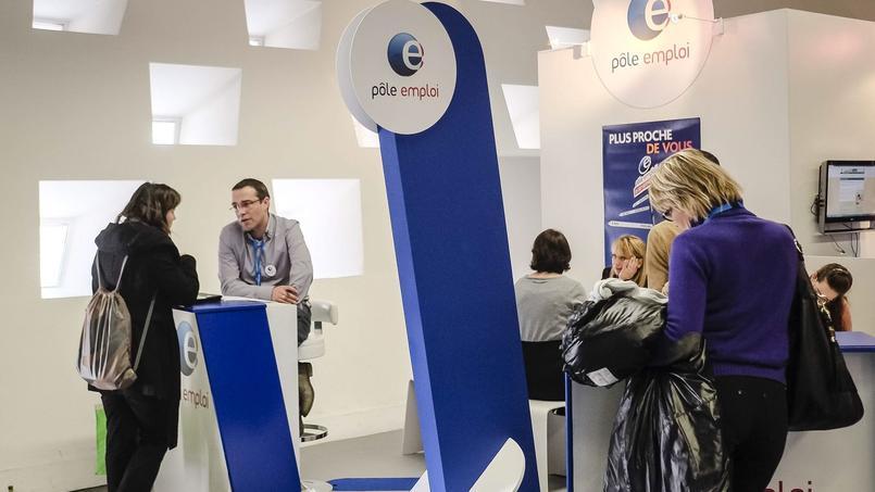 Le stand Pole emploi du salon des entrepreneurs, en février 2015.
