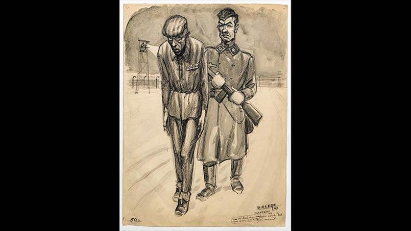 David Olère, arrêté en 1943 et déporté à Auschwitz, réalise entre 1945 et 1962, une série de dessins pour témoigner de la réalité des chambres à gaz et du fonctionnement des fours crématoires.