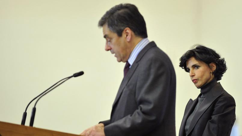 François Fillon et Rachida Dati à Roanne, le 19 janvier 2009.