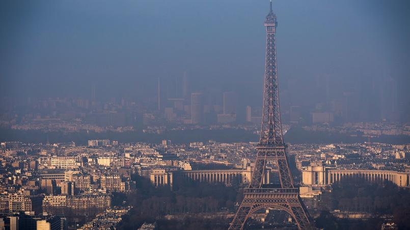 Paris, lors du dernier pic de pollution, le 29 décembre 2016.