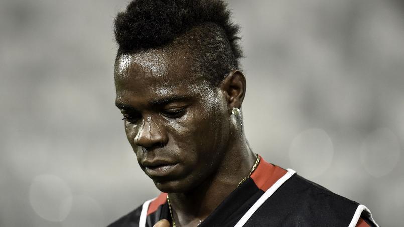 Mario Balotelli, l'attaquant de l'OGC Nice.