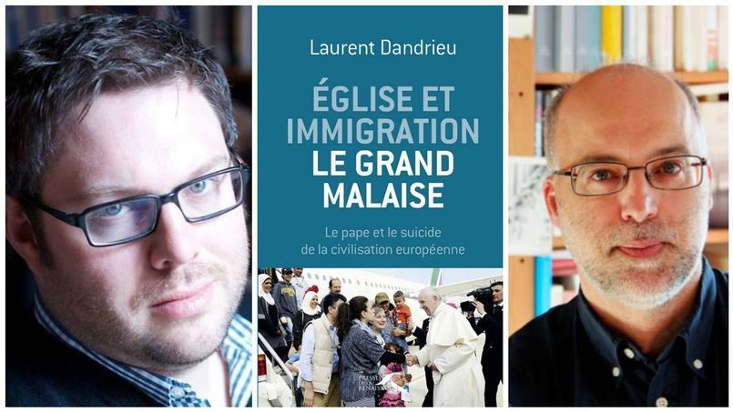 Le sociologue Mathieu Bock-Côté (à gauche sur la photo) a lu le dernier essai de Laurent Dandrieu (à droite) consacré au rapport entre l'Eglise et l'immigration.