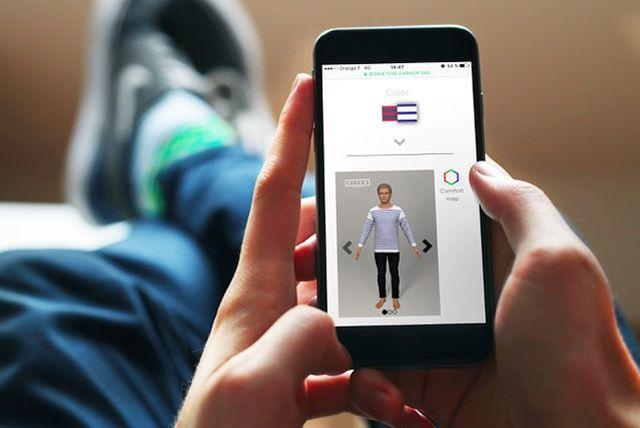 Plusieurs modèles de trois e-boutiques sont disponibles sur l'appli.
